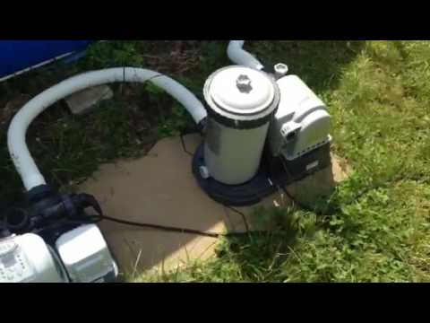 Setting Up Intex Above Ground Pool With Salt Water