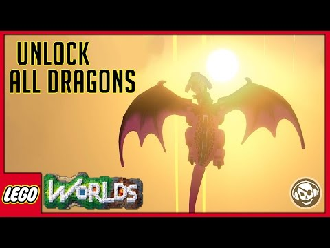 Lego Worlds  How to unlock all the Dragons  Full chain quest guide kinda inappropriate for kids