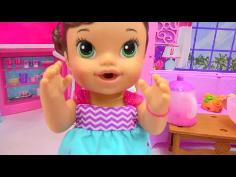 Color Changing Teacup Surprise Tea Party Baby Alive That Wets Diaper + Queen Elsa - CookieswirlC