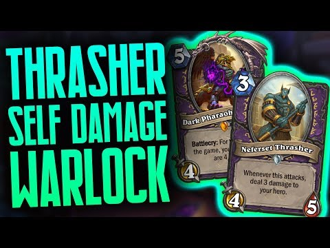 Thrasher Self Damage Warlock | Saviors of Uldum | Hearthstone