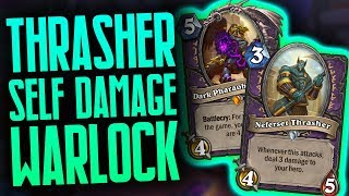 Thrasher Self Damage Warlock   Saviors of Uldum   Hearthstone   Dekkster