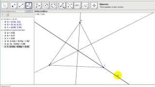 Incentro y circunferencia inscrita a un triangulo con geogebra