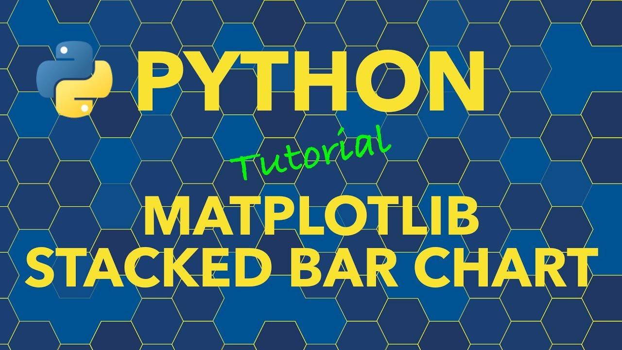 Python Stacked Bar Chart With Matplotlib Youtube
