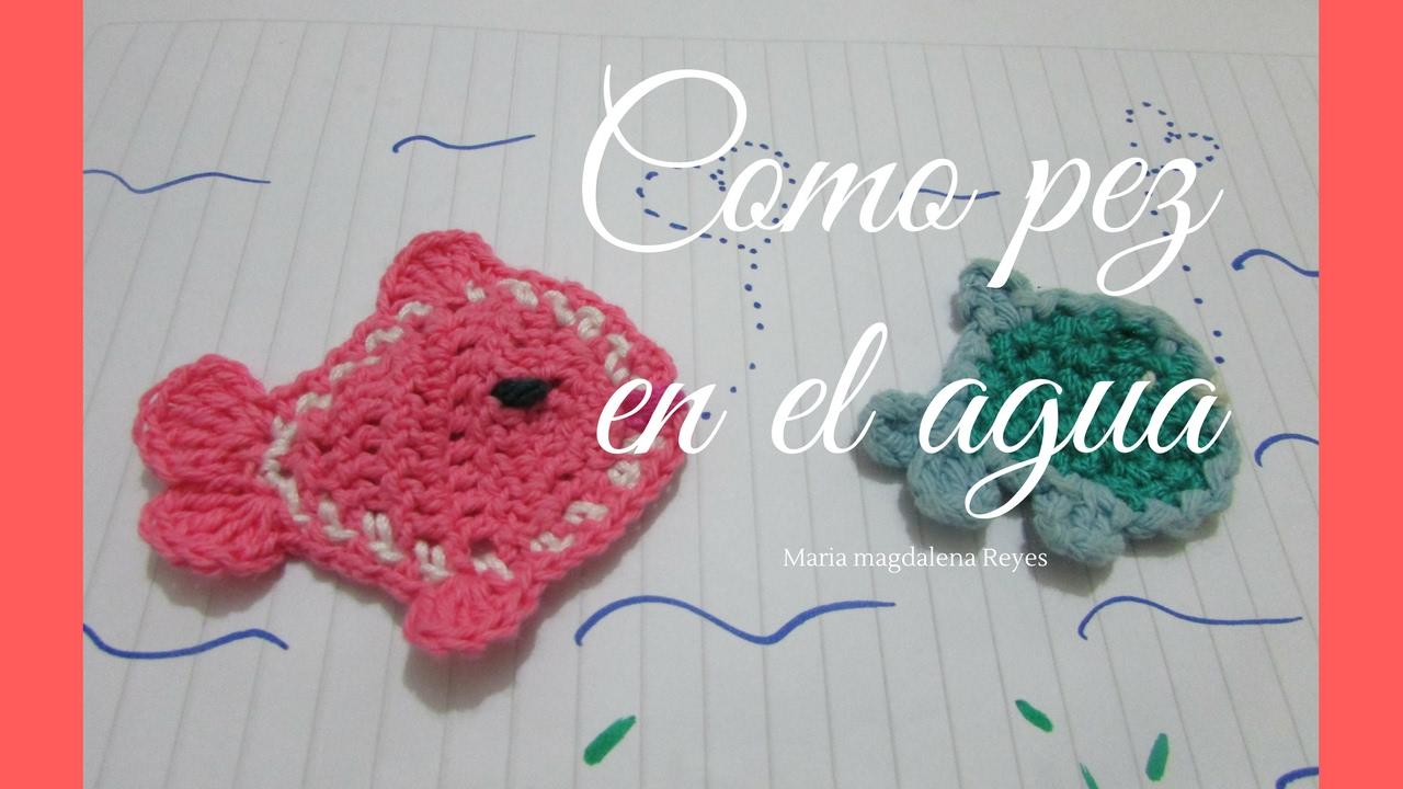 Com hacer peces en miniatura, tejidos en crochet, aplicaciones ...