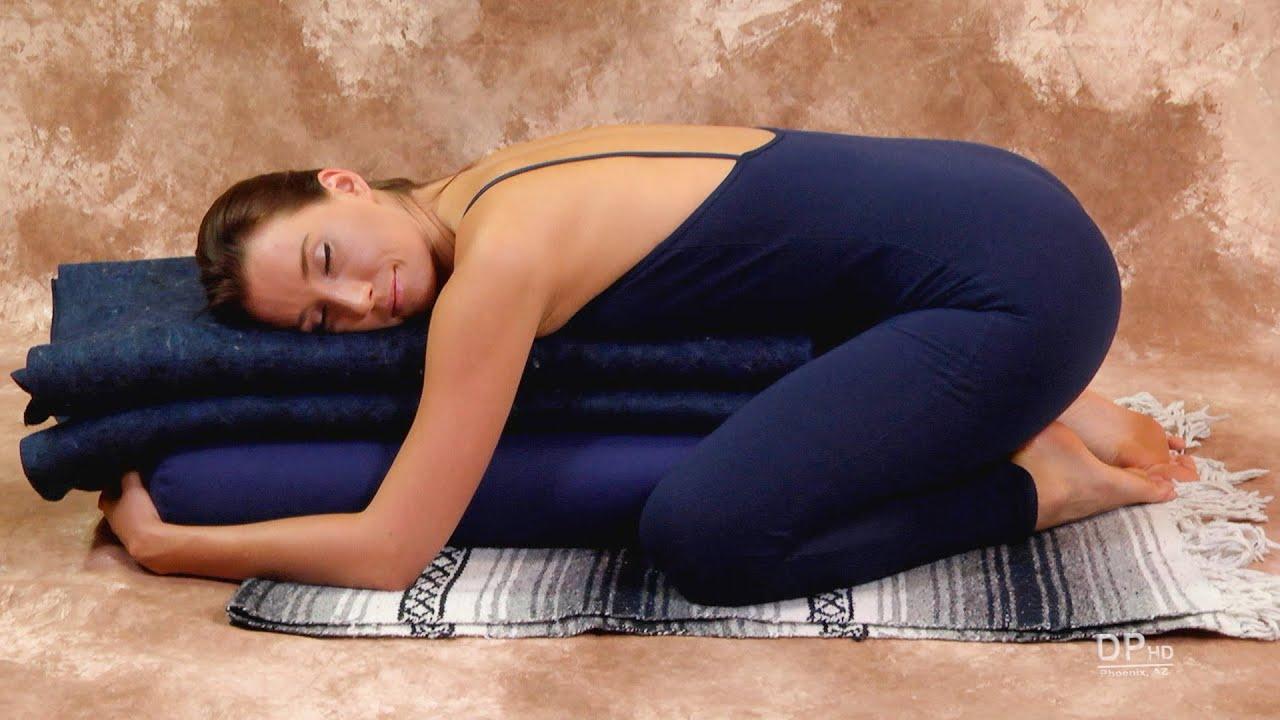 Relaxation Yoga Supported Child's Pose Balasana