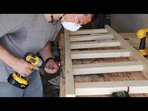 Blanket ladder made from 2x4s