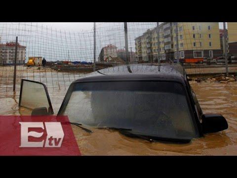 Lluvias dejan severas inundaciones en Nuevo Laredo, Tamaulipas / Vianey Esquinca