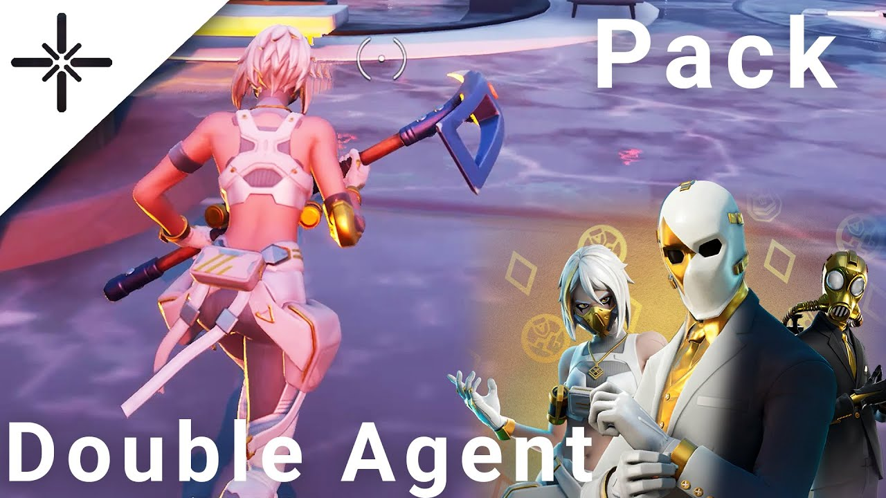 "NEW Fortnite ""Double Agent"" Pack All Skins and Variants Gameplay (Hush, Wildcard, Shadow, Ghost...)"
