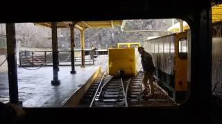 足尾銅山観光 - リッゲンバッハ式ラックレールトロッコ前面展望