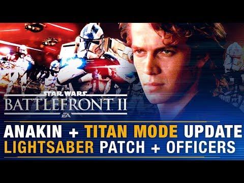 ANAKIN Tease + Titan Mode Update + Lightsaber Patch + Armored Officers Free?  | Battlefront Update