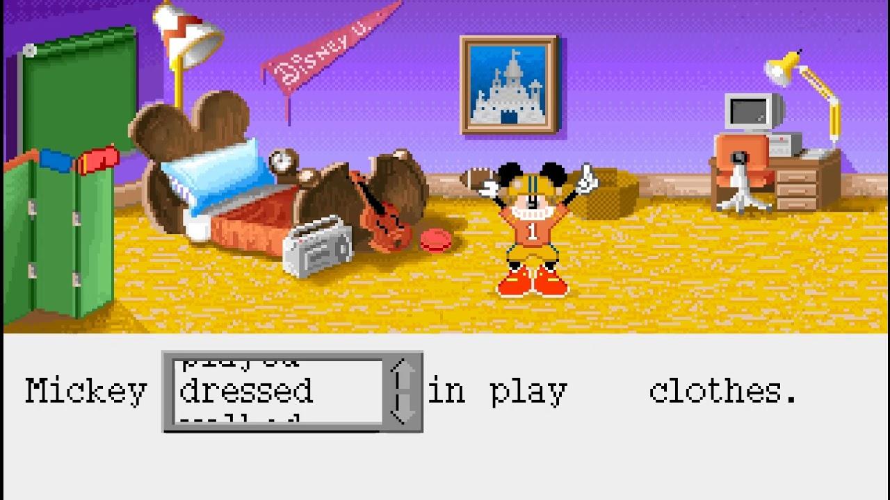 Mickey Mouse Follow The Reader 1992 Dos Game Youtube