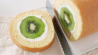 Kiwi Fruit Cake Roll Recipe | Dalmiin