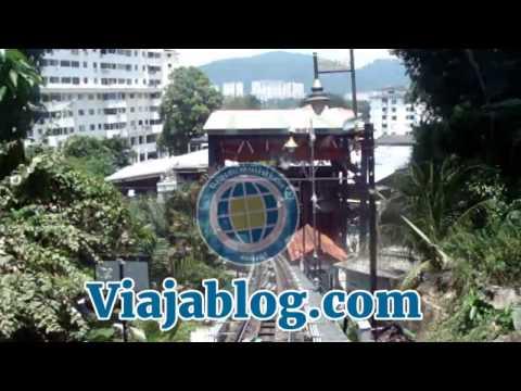 El funicular de Penang Hill en Malasia