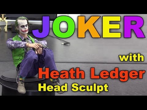 Full JOKER outfit with Heath Ledger head sculpt in 1/6 scale