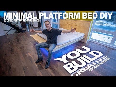 DIY Minimalist Platform Bed - YouBuild Creative