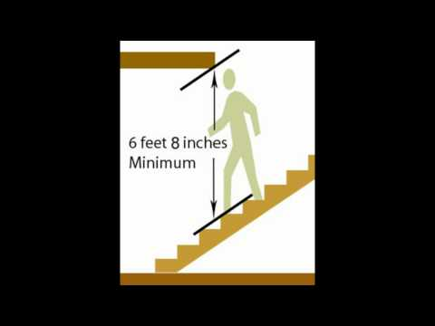 Minimum Stairway Ceiling Height Building Codes And