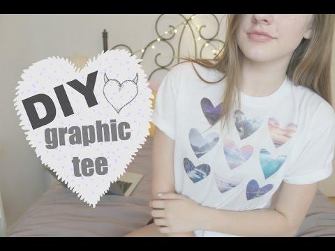 DIY GRAPHIC TEE - Tumblr Heart Shirt | Kassidy Marina ...
