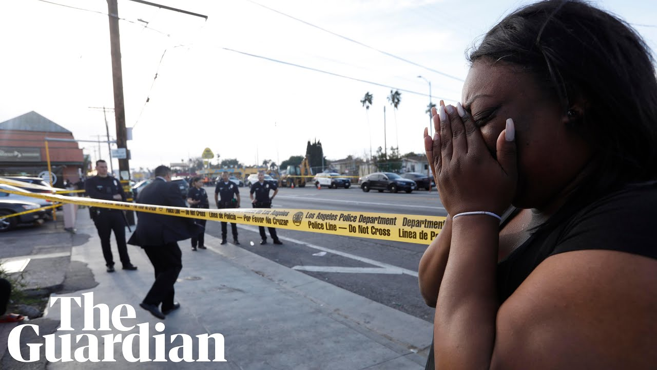Fans pay tribute after rapper Nipsey Hussle killed in LA shooting - video