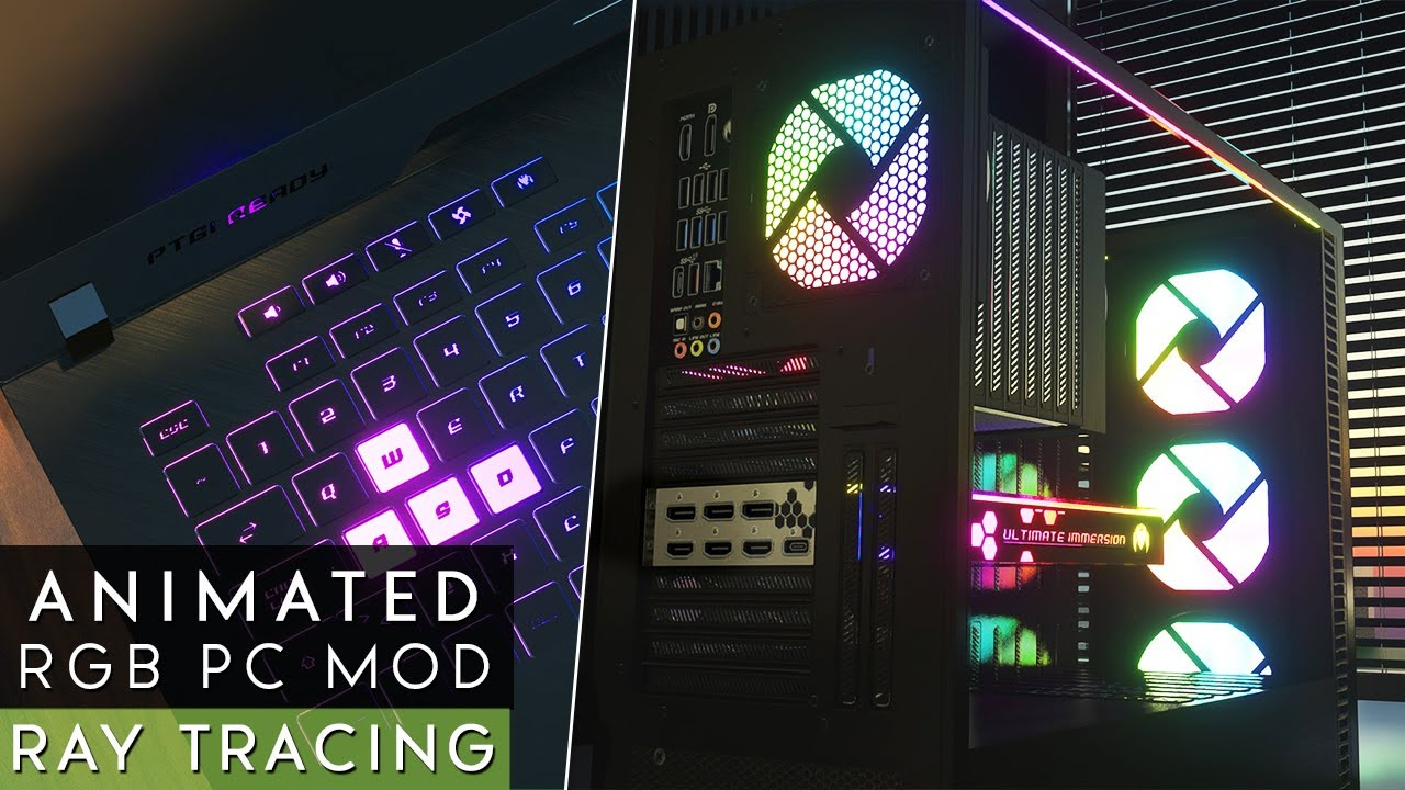 Interactive Gaming PC in Minecraft - Extreme Graphics | Ultimate Immersion Archviz | Ray Tracing
