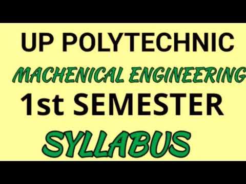 Up polytechnic mechanical production 1st semester syllabus | automobile 1st semester syllabus