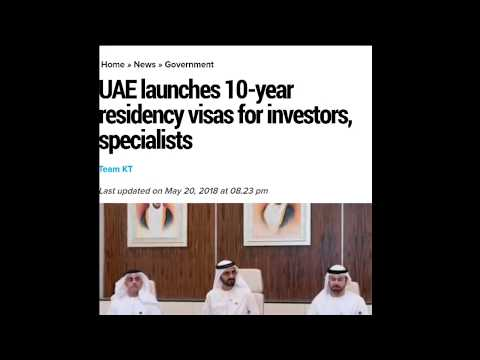 Good News UAE || 10-Year Residence Visa || New Rule 2018