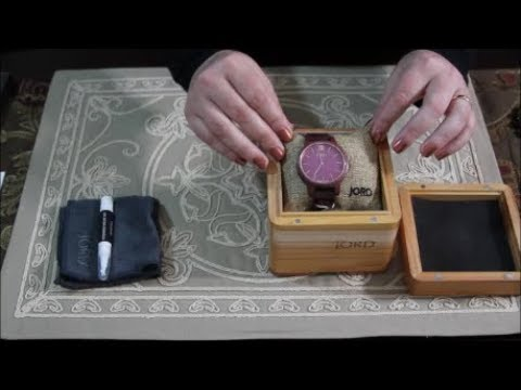ASMR Accessories Unboxing ~ JORD Wooden Watch