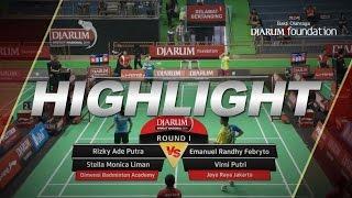 Emanuel Randhy/Virni Putri (Jaya Raya) VS Rizky A.P./Stella Monica (Dimensi Badminton Academy)