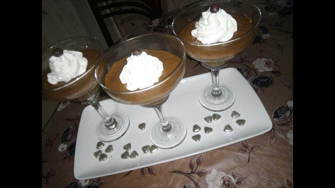 Mousse au chocolat موس الشكولاطة بثلاث مكونات فقط سهلة و رائعة