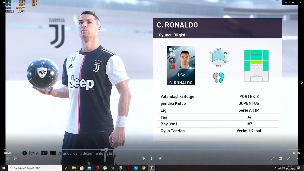 PES 2020-21 Yetenek avcısı ile Ronaldo çıkartma (en ucuz)