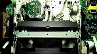 JVC HR-DD868EU Video Cassette Recorder - Перемотка к началу и выброс кассеты