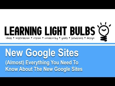 Sites | New Google Sites Overview - YouTube