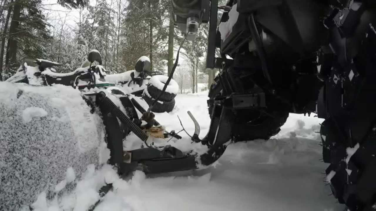 Plowing In 4k All Hero 4 Sportsman 570 W O Eps Modified
