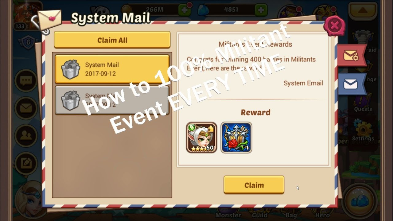 Idle Heroes Event Calendar.How To 100 The Idle Heroes Militant Event Every Time