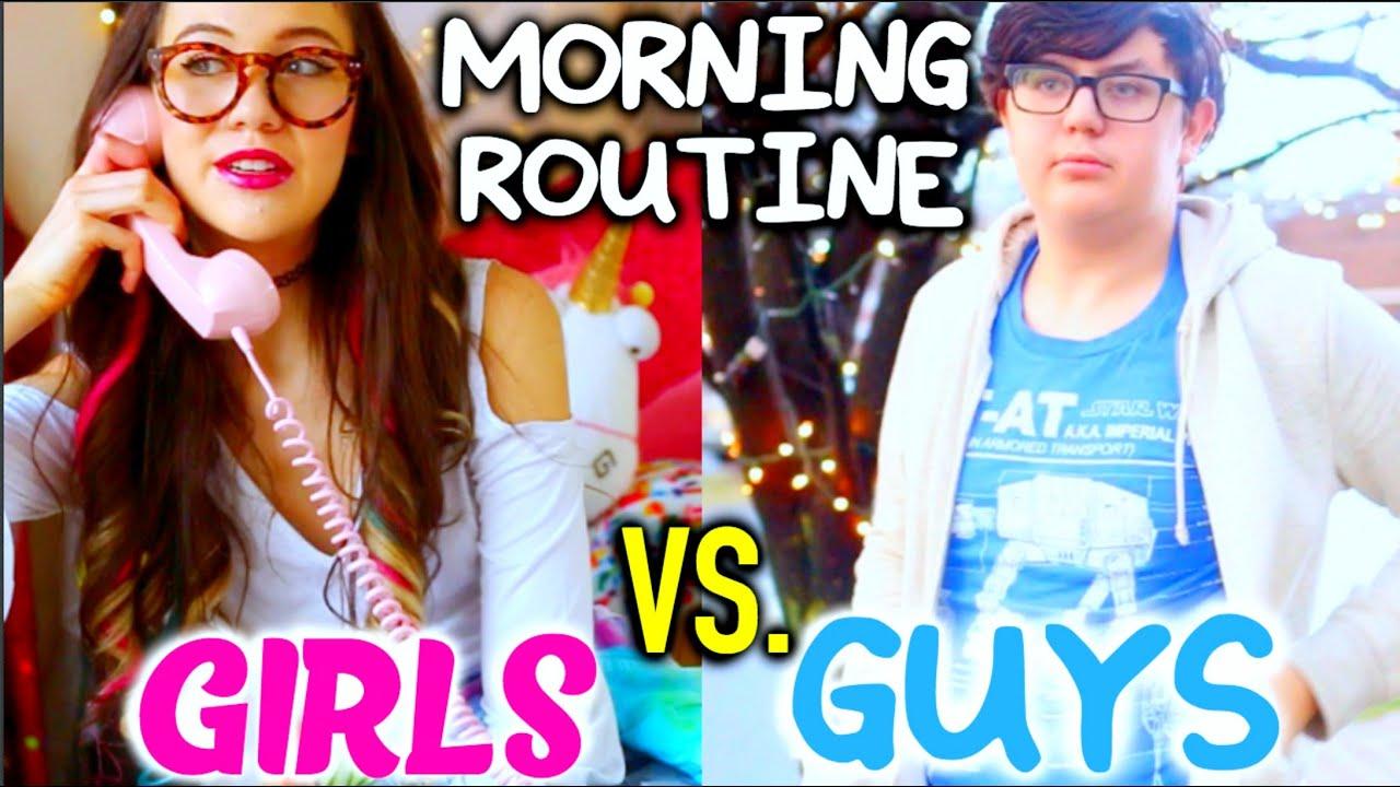 Morning Routine 2016 Guys Vs Girls