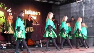 Sunaina doing Irish dance on St Patrick's Day at Copenhagen.
