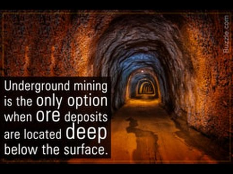 Types Of Underground Mining And Their Applications