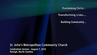 Celebration Service - August 7, 2