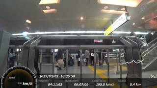 新幹線車窓 by アクションカム(高画質版) のぞみ123号 (東京→広島)