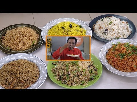 6 Easy Instant Rice Recipes – Golden Harvest – Lunch Box or Wedding Rice Recipes – Chitrannam