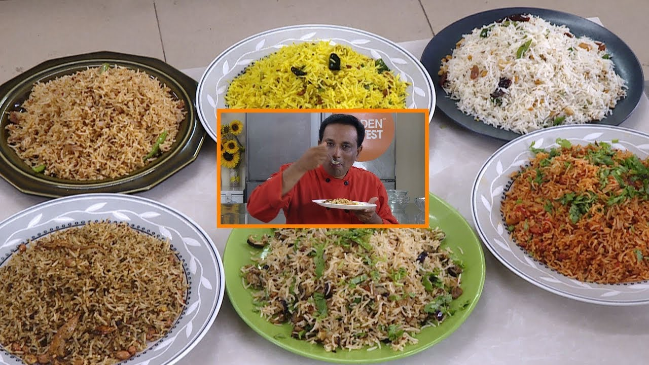 Download 6 Easy Instant Rice Recipes - Golden Harvest - Lunch Box or Wedding Rice Recipes - Chitrannam