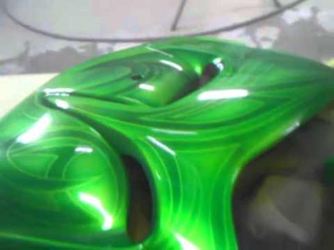 Candycanecustoms Kandy Lime Green Hayabusa Pt 2 Youtube