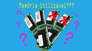 MEMÓRIA RAM UTILIZÁVEL (usable memory) - COMPUTADOR NÃO RECONHECE PARTE DA MEMÓRIA RAM?