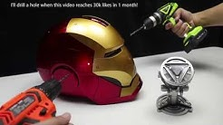 WOW! Amazing Iron Man fully automatic helmet and Arc Reactor