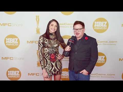 Avi Love Wears Tight Dress On Red Carpet At The Xbiz Awards In Los Angeles, CA.