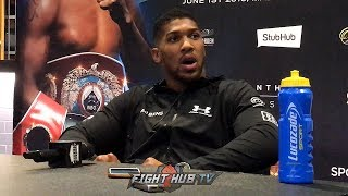 ANTHONY JOSHUA REACTS TO TYSON FURY SIGNING WITH ESPN & TOP RANK