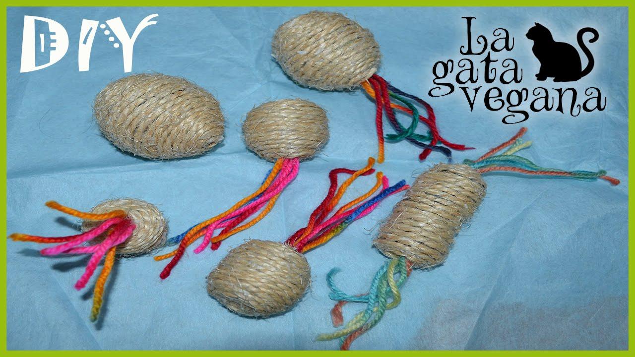 Como hacer juguetes de cuerda caseros para gatos conejos cobayas u otros animales hazlo t - Juguetes caseros para conejos ...
