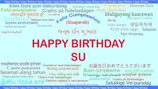 Su   Languages Idiomas - Happy Birthday