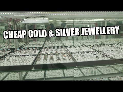 Silver Jewellery Shopping At The Gold Souk Market In Dubai