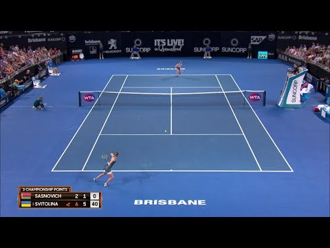 Sasnovich vs Svitolina Match Highlights (F) | Brisbane International 2018