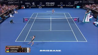 Sasnovich vs Svitolina Match Highlights (F) | Brisbane International 2018